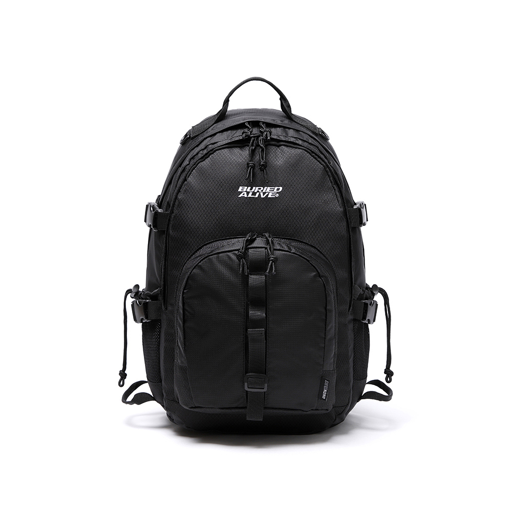 [BA X UNION] GRID BACKPACK BLACK